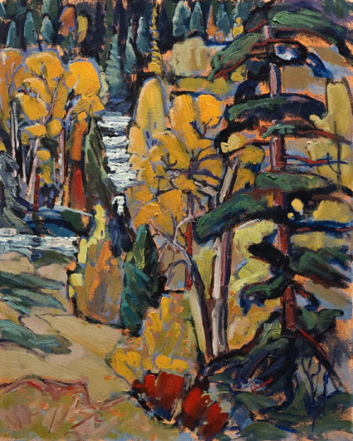 "SOLD ""The Gateway to the Monashee Mountains (Lumby),"" by Ed Loenen 16 x 20 - oil $1200 Unframed"