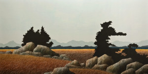 """SOLD """"On a Clear Day,"""" by Ken Kirkby 30 x 60 - oil $4500 Unframed"""