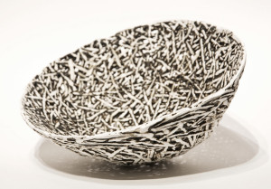 "White Nest (LR-211) by Laurie Rolland hand-built ceramic - 5 1/2"" (H) x 9 1/2"" (L) x 8"" (W) $800"