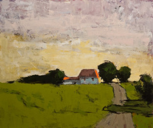 "SOLD ""Chemin Gendron No. 2,"" by Robert P. Roy 30 x 36 - acrylic $1900 Unframed"
