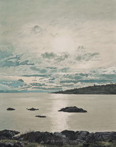 """SOLD """"McNeil Bay Evening,"""" by Ron Parker 22 x 28 - oil $3600 Unframed"""
