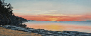 """SOLD """"A Touch of Gold,"""" by Ron Parker 24 x 60 - oil $7800 Unframed"""