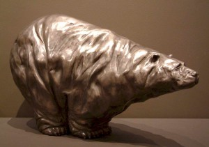"""""""The Old Bear,"""" by Nicola Prinsen Bronze - 12"""" high x 18"""" long Edition of 9 $4500"""