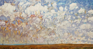 """SOLD """"Afternoon Poles,"""" by Steve Coffey 16 x 30 - oil $2025 Unframed"""