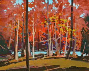 """SOLD """"Bright Counterpoint,"""" by Robert Genn 16 x 20 - acrylic $7300 Unframed"""