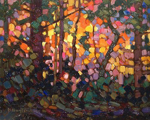 """SOLD """"Candied Forest"""" 8 x 10 - oil $465 Framed"""