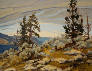 "SOLD ""Clearing Sky"" by Frances Harris 14 x 18 – oil $1345 Framed"