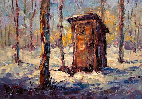 """SOLD """"Closed for the Season"""" 5 x 7 - oil $395 Framed"""