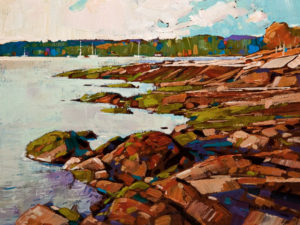 "SOLD ""Low Tide – Study,"" by Min Ma 6 x 8 – acrylic $510 Unframed"