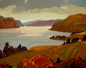 "SOLD ""Okanagan View,"" by Min Ma 8 x 10 – acrylic $560 Framed"