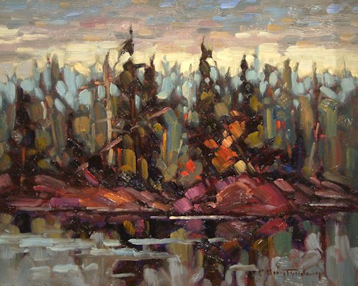 """SOLD """"On Lake of the Woods"""" 8 x 10 - oil $465 Framed"""