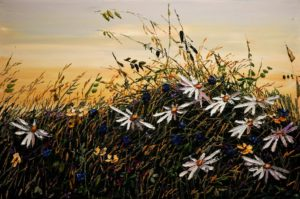 "SOLD ""Summer Breeze""  by Maya Eventov 24 x 36 – acrylic $2150 Unframed"