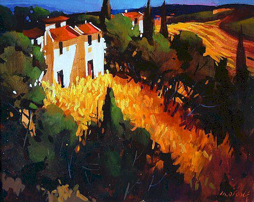 """SOLD """"Tuscan Perspective"""" 16 x 20 - acrylic $925 Framed"""