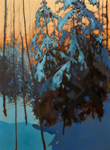 """SOLD """"Evening Blues,"""" by David Lidbetter 22 x 30 - oil $2600 (thick canvas wrap)"""