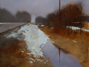 """SOLD """"Pale Morning,"""" by David Lidbetter 18 x 24 – oil $1700 Unframed"""