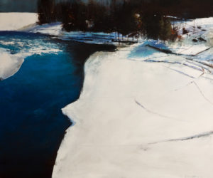 """SOLD """"Return to the River,"""" by David Lidbetter 30 x 36 – oil $3500 Unframed"""