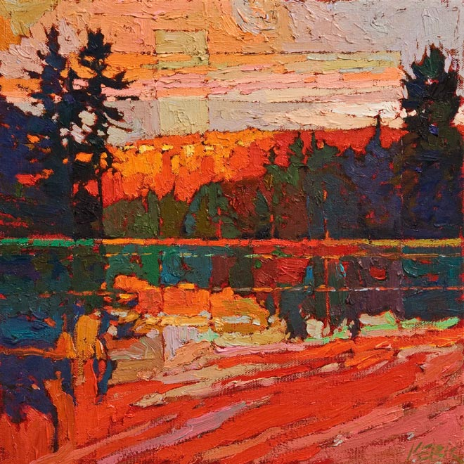 SOLD No. 1058 by Bob Kebic 12 x 12 - oil $880 (thick canvas wrap)