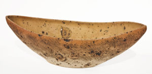 """SOLD Bone Boat (LR-246) by Laurie Rolland hand-built ceramic - 21"""" (L) x 7"""" (H) x 9"""" (W) $400"""
