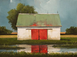 """SOLD """"After Summer Rains"""" by Mark Fletcher 9 x 12 - acrylic $740 Unframed $880 in show frame"""