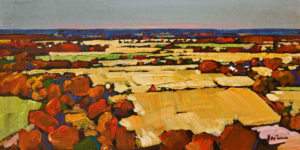 "SOLD ""Autumn Comes"" by Min Ma 4 x 8 – acrylic $550 Unframed"