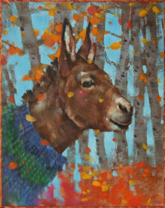 """SOLD """"Autumn's Confetti"""" by Angie Rees 8 x 10 - acrylic $575 (unframed panel with 1 1/2"""" edges)"""