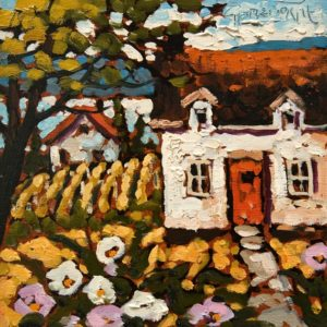"""SOLD """"Early June, Okanagan"""" by Rod Charlesworth 6 x 6 - oil $475 Unframed $560 in show frame"""