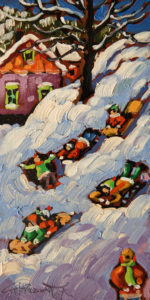 """SOLD """"Fresh Air"""" by Rod Charlesworth 4 x 8 - oil $475 Unframed $630 in show frame"""