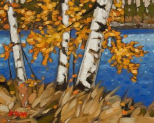 """SOLD """"Golden Signs"""" by Graeme Shaw 8 x 10 - oil $510 Unframed $715 in show frame"""