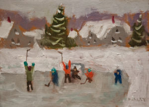"""SOLD """"Hat Trick"""" by Paul Healey 5 x 7 - oil $275 Unframed $450 in show frame"""