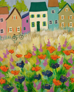 """SOLD """"Joy of the Summer"""" by Claudette Castonguay 10 x 12 - acrylic $390 Unframed $520 in show frame"""