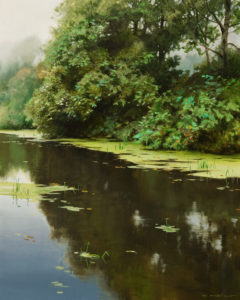 """SOLD """"Katzie Slough in Spring"""" by Renato Muccillo 8 x 10 - oil $2440 in show frame"""