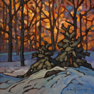 """SOLD """"Late Colours"""" by Phil Buytendorp 10 x 10 - oil $645 Unframed $875 in show frame"""