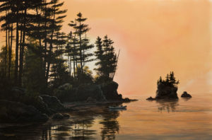 """SOLD """"The Navigator,"""" by Bill Saunders 24 x 36 - acrylic $4400 Unframed"""