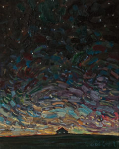 """SOLD """"Night Sparkle"""" by Steve Coffey 8 x 10 - oil $740 Unframed $900 in show frame"""