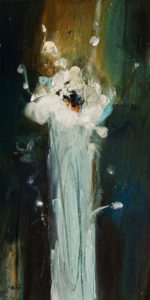 """SOLD """"No Rules, Just Wild and Free"""" by Susan Flaig 10 x 20 - acrylic/graphite $770 Unframed $900 in show frame"""