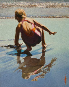 """SOLD """"Seventh Summer"""" by Alan Wylie 8 x 10 - oil $1435 Unframed $1650 in show frame"""