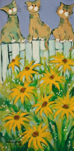 """SOLD """"Souvenir from the Summer"""" by Claudette Castonguay 6 x 12 - acrylic $310 Unframed $410 in show frame"""