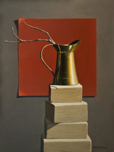 """SOLD """"Top Brass"""" by Keith Hiscock 12 x 16 - oil $1550 Unframed"""