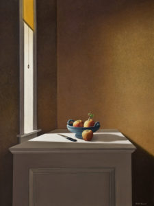 """SOLD """"Sideboard,"""" by Keith Hiscock 30 x 40 - oil $7500 Unframed"""