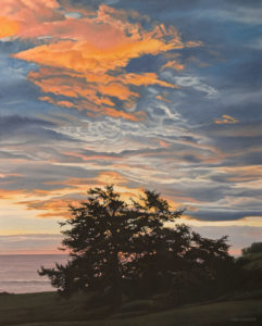 """SOLD """"Bright Dawn,"""" by Ron Parker 24 x 30 - oil $4100 Unframed"""