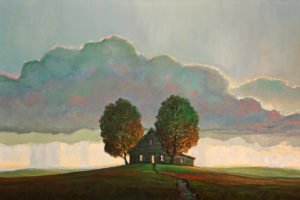 """SOLD """"The Pass Through,"""" by Steve Coffey 24 x 36 - oil $2640 Unframed"""