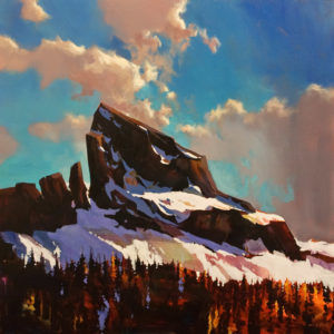 """ON HOLD """"Black Tusk,"""" by Michael O'Toole 36 x 36 - acrylic"""