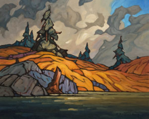 """SOLD """"Cariboo Gold Field,"""" by Phil Buytendorp 16 x 20 - oil $1475 Unframed"""