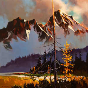 """ON HOLD """"Near the Vermillion Lakes,"""" by Michael O'Toole 30 x 30 - acrylic"""