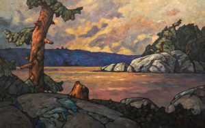 """SOLD """"Scattered Crests,"""" by Phil Buytendorp 30 x 48 - oil $4450 Unframed"""