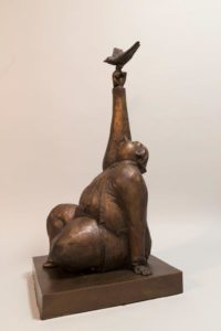 """""""One True Thing,"""" by Michael Hermesh 30 (H) x 13 1/2 (L) x 13 1/2 (W) - bronze Edition of 15 $8000"""