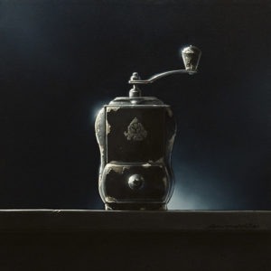 """SOLD """"A Shot in the Dark,"""" by Glen Melville 16 x 16 - acrylic and oil $875 (thick canvas wrap)"""
