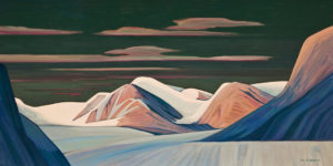 """SOLD """"Where the Arctic Ice Flows,"""" by Nicholas Bott 24 x 48 - oil $5730 (thick canvas wrap)"""