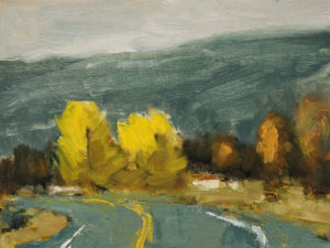 "SOLD ""Courbe No. 1"" by Robert P. Roy 9 x 12 – oil $490 Unframed"