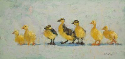 "SOLD ""Cousins,"" by Paul Healey 9 x 19 - oil $675 Unframed"